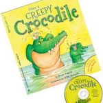 Cover of 'Once a Creepy Crocodile' children's book written by Peter Taylor, with a CD