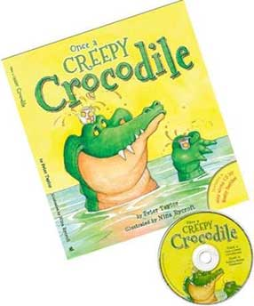 Peter Taylor's children's book 'Once a Creepy Crocodile' and CD