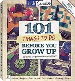 New edition of author Peter Taylor's children's book '101 Things To Do Before You Grow Up', published by Hinkler Books