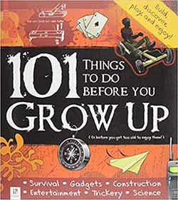 Peter Taylor's children's book '101 Things To Do Before You Grow Up', published by Hinkler Books