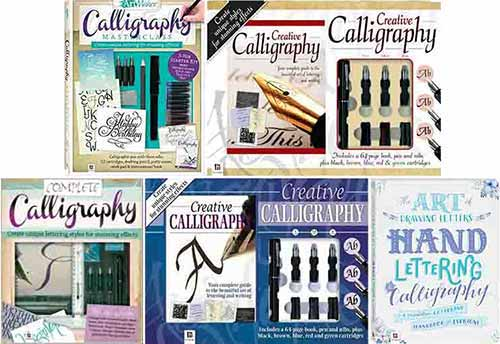 The covers of Peter Taylor's 'Creative Calligraphy' books and 'Hand Lettering and Calligraphy'