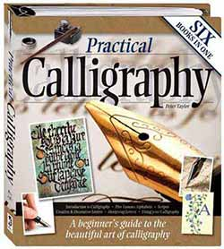 The cover of Peter Taylor's calligraphy book for older children and adults, 'Practical Calligraphy'