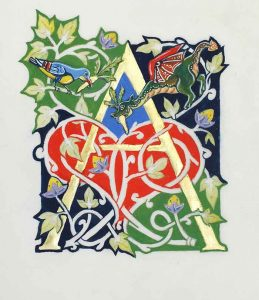 Illumination by calligrapher and author Peter Taylor