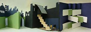 Peter Taylor teaches artists book creation workshops that include this concertina book stairs.