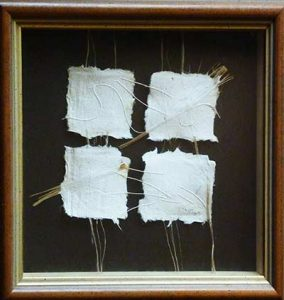A sample of Peter Taylor's artistic papermaking that was exhibited in the Queensland Museum