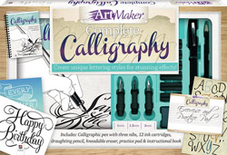 This Art Maker calligraphy set contains a book by calligrapher and author Peter Taylor