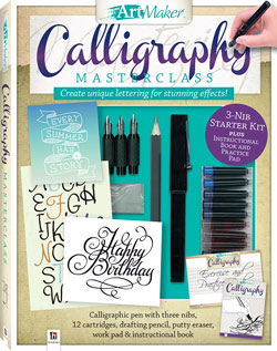 This Masterclass set contains a 48 page calligraphy book by Peter Taylor