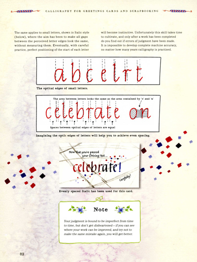 A page from Peter Taylor's calligraphy book
