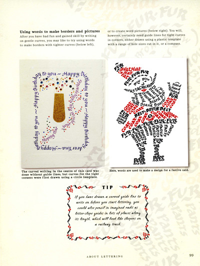 Peter Taylor's calligraphy - a page from his book
