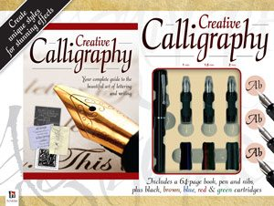 Creative calligraphy contains a book by author and calligrapher Peter Taylor