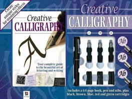 This calligraphy set contains a book by calligrapher and author Peter Taylor