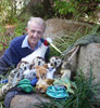 Author Peter Taylor with puppets