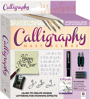 2019 Calligraphy box set including a book by Peter Taylor