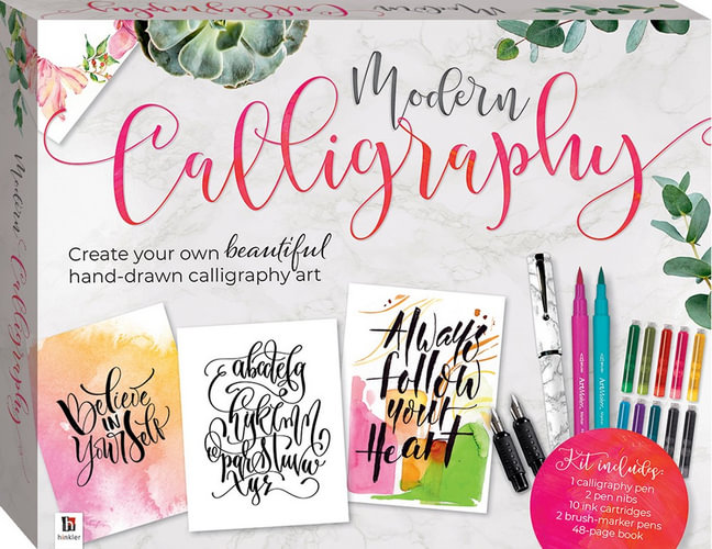 This image has an empty alt attribute; its file name is modern-calligraphy-kit.jpg